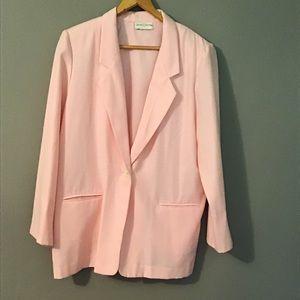 Vintage Baby Pink Blazer